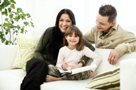 Palms Properties Estate Agents in Brighton - Family on sofa