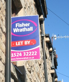 Fisher Wrathall Lettings Bureau in Lancaster and Bentham - To Let board