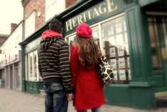 Heritage Letting Agents in Kings Heath, Birmingham - Couple outside office