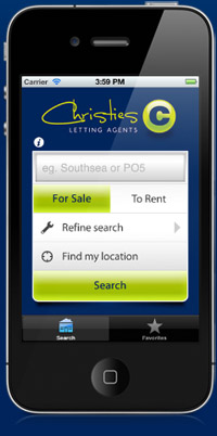Christies Estate Agent App image on the iPhone