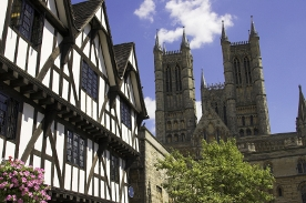 Burton & Co Estate Agents in Lincoln - Lincoln skyline with cathedral and tudor house