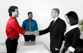 Brighton Homes Letting Agents - Agent shaking Landlords hand