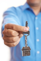 Landlord in Weston-super-Mare holding keys to his property