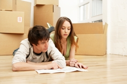 Linhams - Tenants moving in to new flat in Worle, Wesont-super-Mare