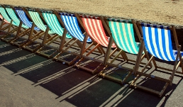Beach chairs in Worle, Weston-super-Mare