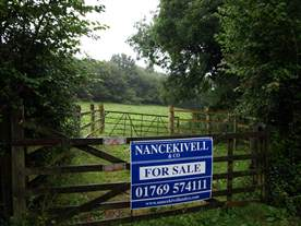 Nancekivell For Sale board in South Molton