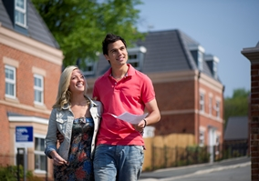Couple viewing new home with Century Estate Agents in Leicester