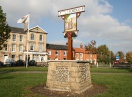 Attleborough sign statue