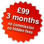 £99 3 months, no commission, no hidden fees