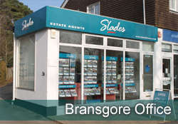 Slades Bransgore Office - Property in Highcliffe, Bransgore, Christchurch, Bournemouth, Dorset. - Image of  Bransgore front of office